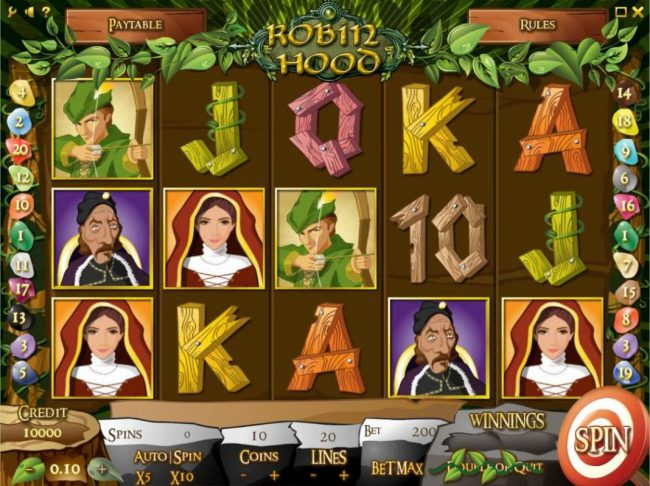 Play slots at Llama Casino: Llama Casino featuring the Video Slots Robin Hood with a maximum payout of $1,000,000