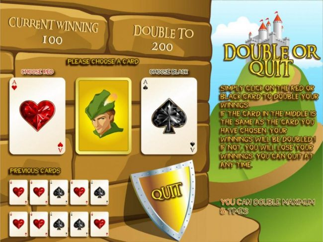 Casdep featuring the Video Slots Robin Hood with a maximum payout of $1,000,000