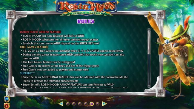 Robin Hood Prince of Tweets :: Robin Hood Arrow Feature rules and Free Games Feature rules.