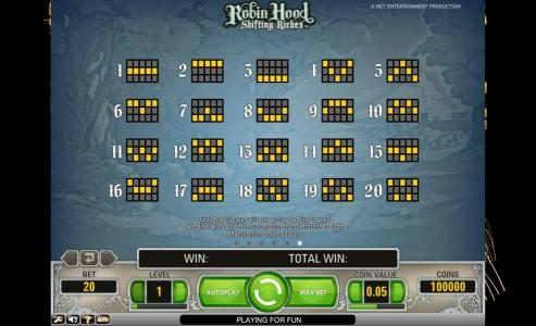 Queen Vegas featuring the Video Slots Robin Hood - Shifting Riches with a maximum payout of $5,000