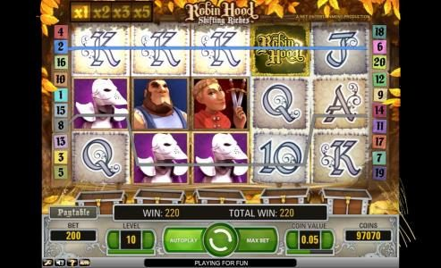 PropaWin featuring the Video Slots Robin Hood - Shifting Riches with a maximum payout of $5,000