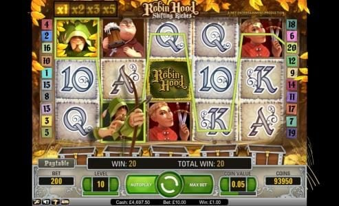 Play slots at Betting Ways: Betting Ways featuring the Video Slots Robin Hood - Shifting Riches with a maximum payout of $5,000