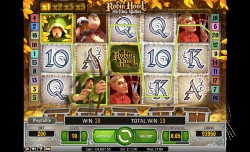 Bet At Casino featuring the Video Slots Robin Hood - Shifting Riches with a maximum payout of $5,000