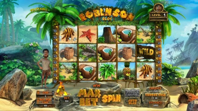 Play slots at Win Monaco: Win Monaco featuring the Video Slots Robinson Slot with a maximum payout of $100,000