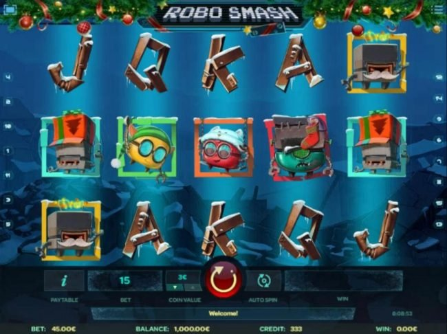 Llama Casino featuring the Video Slots Robo Smash with a maximum payout of $1,500