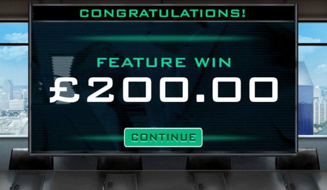 Total bonus payout 200 credits