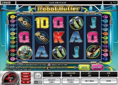 Players Palace featuring the Video Slots Robot Butler with a maximum payout of $20,000