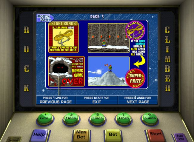 Play slots at Yoyo: Yoyo featuring the Video Slots Rock Climber with a maximum payout of $7,500