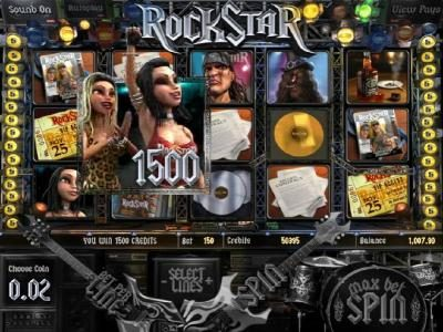 Playamo featuring the Video Slots Rock Star with a maximum payout of $2,500