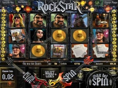 7Red featuring the Video Slots Rock Star with a maximum payout of $2,500