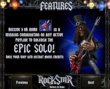 Rock Star :: epic solo feature rules