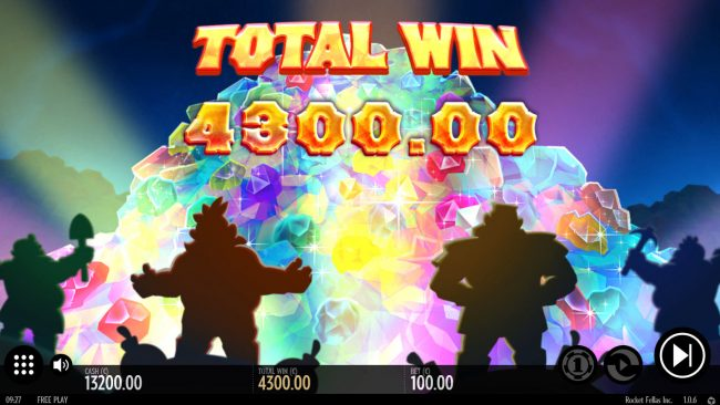 Rocket Fellas Inc :: Total Free Spins Payout