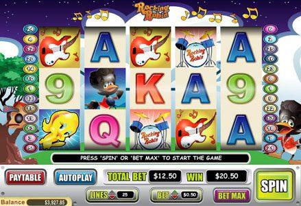 Play slots at Liberty Slots: Liberty Slots featuring the Video Slots Rocking Robin with a maximum payout of $50,000