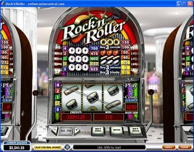 Casino Plex featuring the video-Slots Rock'n' Roller with a maximum payout of $8,000
