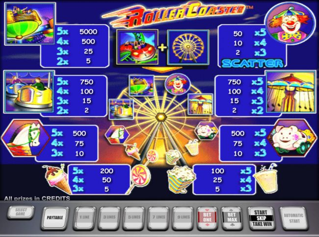 Casino-X featuring the Video Slots Roller Coaster with a maximum payout of $250,000