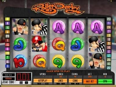 Play slots at Jackpot Knights: Jackpot Knights featuring the Video Slots Roller Derby with a maximum payout of $10,000