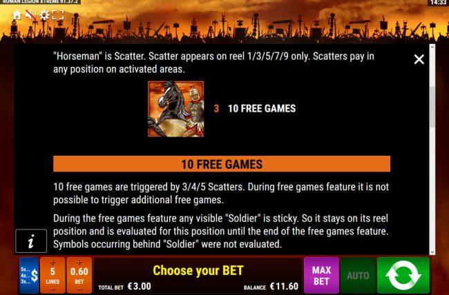 Roman Legion Xtreme :: Scatter Symbol Rules