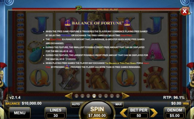 Balance of Fortune Rules