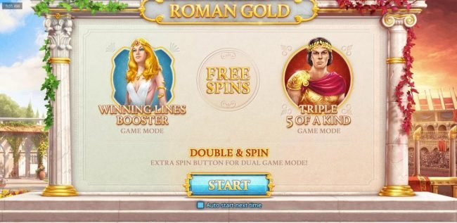 Game features two game modes - Winning Lines Booster and Triple 5 of a kind! Double and Spin - Extra button for dual game mode. Free Spins.