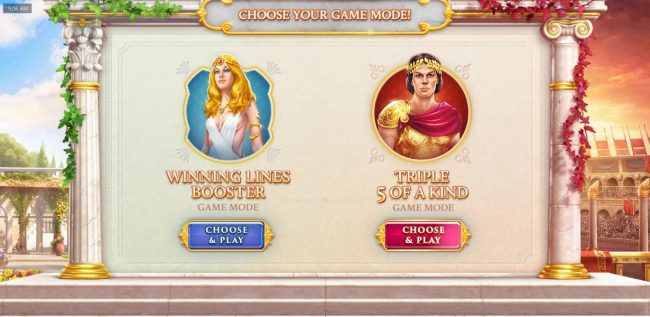 You will need to select which game mode to play, Winning Lines Booster or Triple 5 of a Kind.