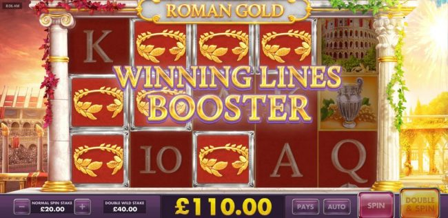 Winning Lines Booster triggered - Winning lines symbols will be nudge for a chance at increasing your winnings.