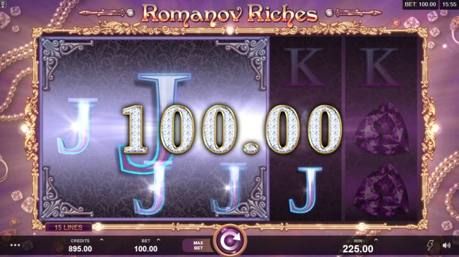 Play slots at 21 Jackpots: 21 Jackpots featuring the Video Slots Romanov Riches with a maximum payout of $100,000