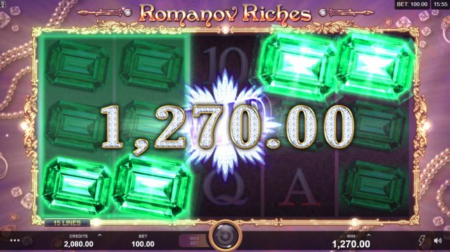 First Web featuring the Video Slots Romanov Riches with a maximum payout of $100,000
