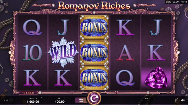 Casimba featuring the Video Slots Romanov Riches with a maximum payout of $100,000