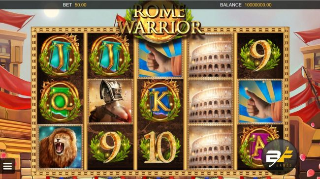 Play slots at LV Bet: LV Bet featuring the Video Slots Rome Warrior with a maximum payout of $36,590