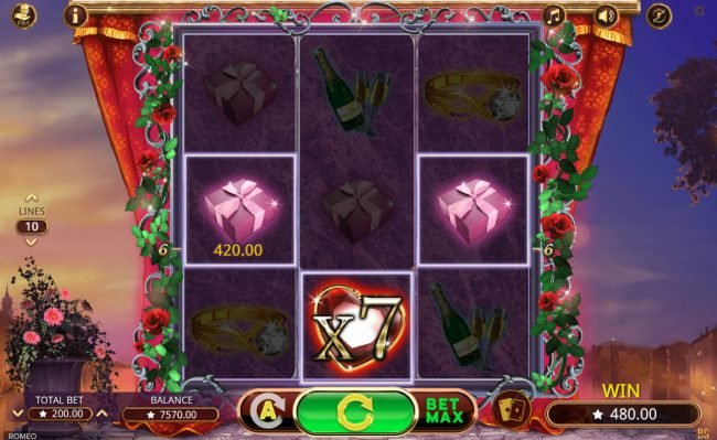 Spintropolis featuring the Video Slots Romeo with a maximum payout of $350,000