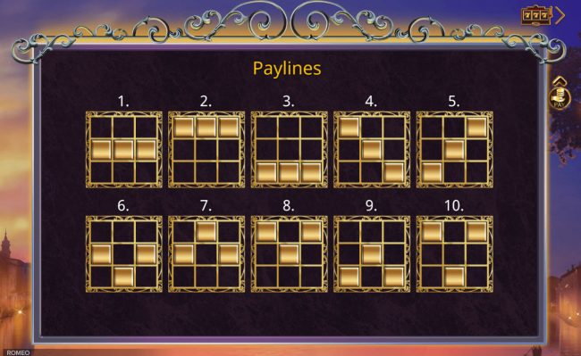 Magik Slots featuring the Video Slots Romeo with a maximum payout of $350,000