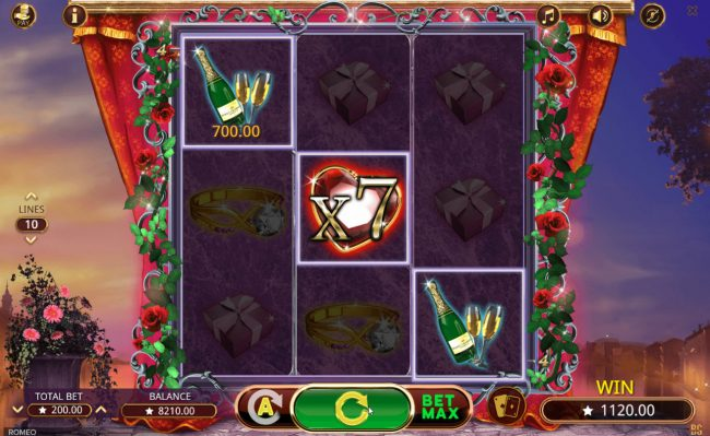 Play slots at King Billy: King Billy featuring the Video Slots Romeo with a maximum payout of $350,000