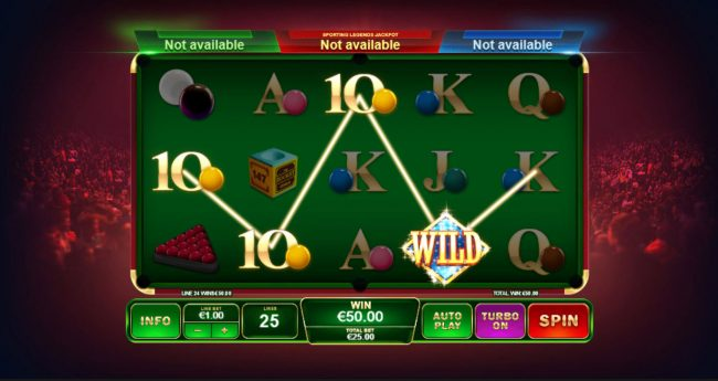 Magic Box featuring the Video Slots Ronnie O'Sullivan Sporting Legend with a maximum payout of Jackpot