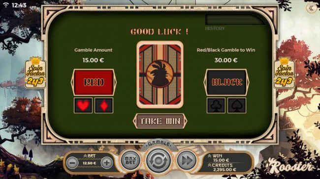 Rooster :: Gamble Feature Game Board