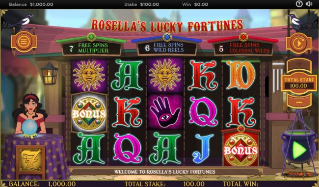 Rosella's Lucky Fortunes :: Main Game Board