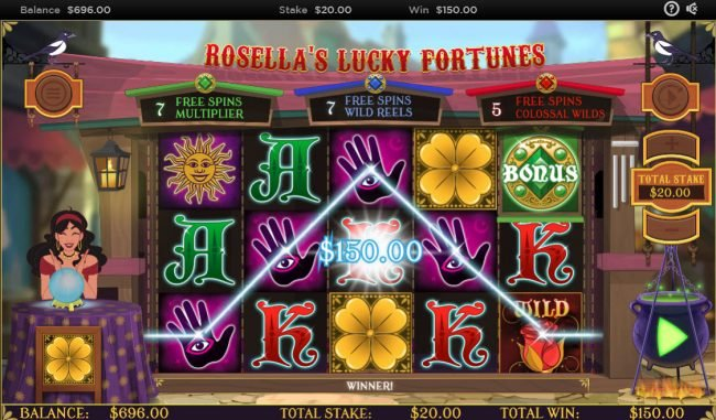 Rosella's Lucky Fortunes :: Four of a kind