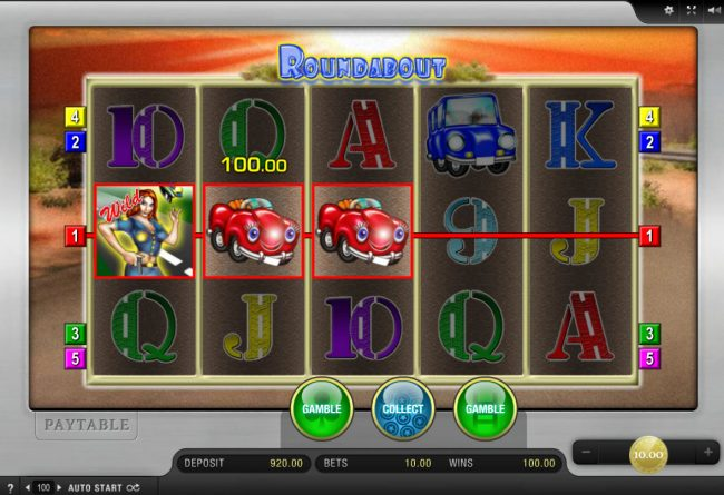 EU Casino featuring the Video Slots Roundabout with a maximum payout of $4,000