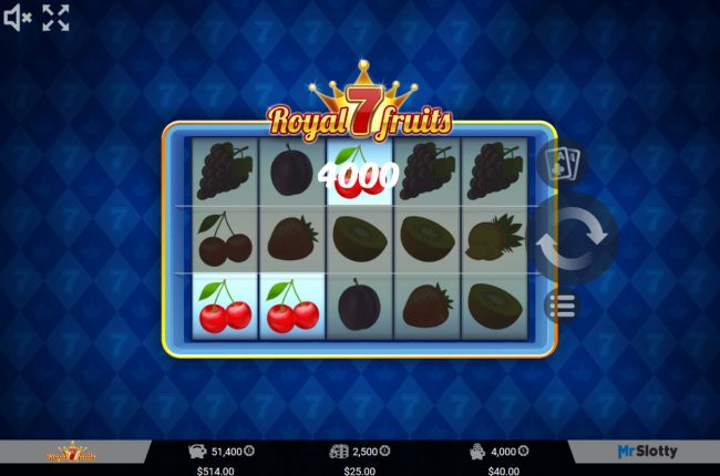 Napoli featuring the Video Slots Royal 7 Fruits with a maximum payout of $50,000