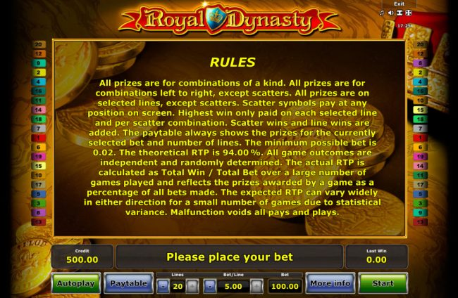 Royal Dynasty :: General Game Rules