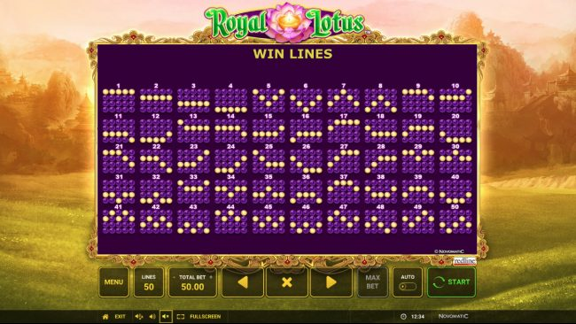 AC Casino featuring the Video Slots Royal Lotus with a maximum payout of $50,000