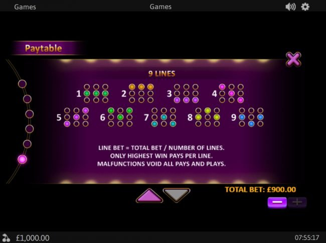 Palace VIP featuring the Video Slots Royal Respin Deluxe with a maximum payout of $1,000,000