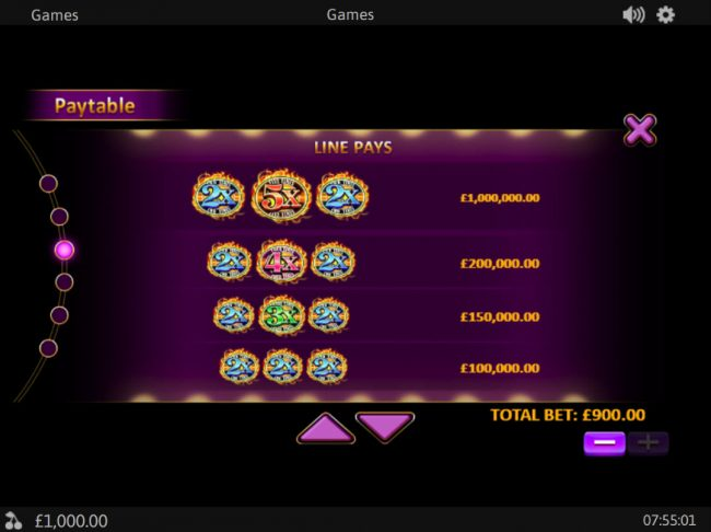 Casino Las Vegas featuring the Video Slots Royal Respin Deluxe with a maximum payout of $1,000,000