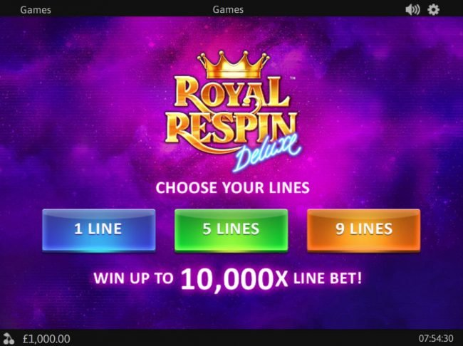 Play slots at Titanbet.it: Titanbet.it featuring the Video Slots Royal Respin Deluxe with a maximum payout of $1,000,000