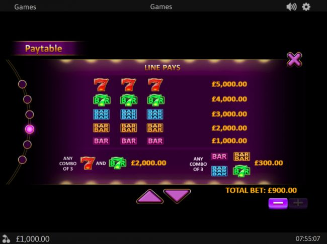 Chips Palace featuring the Video Slots Royal Respin Deluxe with a maximum payout of $1,000,000