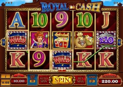 Viggoslots featuring the Video Slots Royal Cash with a maximum payout of $100,000