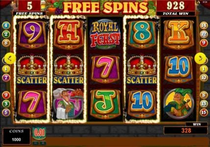 Joy Casino featuring the Video Slots Royal Feast with a maximum payout of $25,000