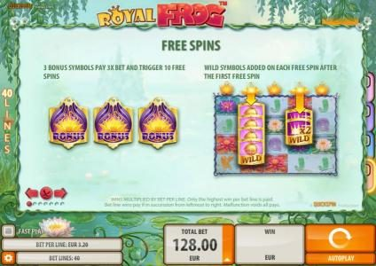 Rizk featuring the Video Slots Royal Frog with a maximum payout of $200,000