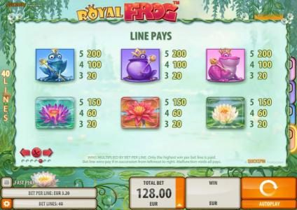 CKcasino featuring the Video Slots Royal Frog with a maximum payout of $200,000