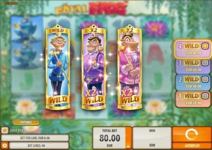 Instacasino featuring the Video Slots Royal Frog with a maximum payout of $200,000