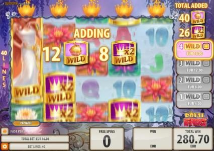 Play slots at Diamond 7: Diamond 7 featuring the Video Slots Royal Frog with a maximum payout of $200,000